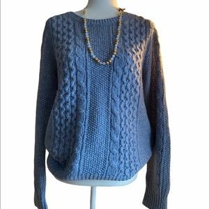 Banana Republic Baby Blue Cable Knit Sweater